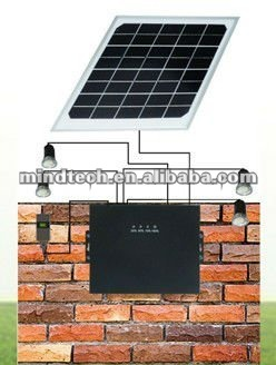 portable solar light fixed on wall with led lighting /ini solar home lighting system/solar led bulb
