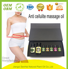 Hot Selling OEM Packing private label anti cellulite massage oil gift set