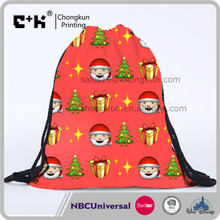 Christmas Canvas Sack Bag Candy Gift Bags DIY for Kids in Xmas Decoration Santa Claus Drawstring Bag