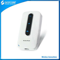 Logo print customize sentar 3G wifi router EVDO wireless network with 3000mAh power bank and RJ45 port