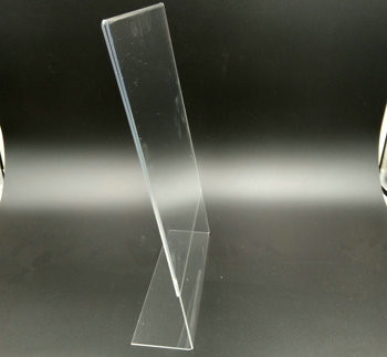A4 size clear acrylic sign holder slant stand for advertising paper