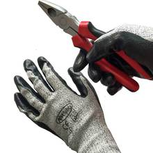 NMSafety Brand High Quality Black Nitrile Coated Palm Chemical Resistant Glove