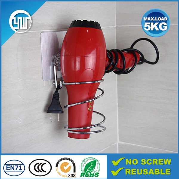 uk shower room hair dryer holder & easy install nailless hair dryer holder & new suction hair dryer holder