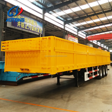 Philippines 40ft 3 axles side wall panel trailer/strong flatbed cargo truck trailer dimensions to General Santos