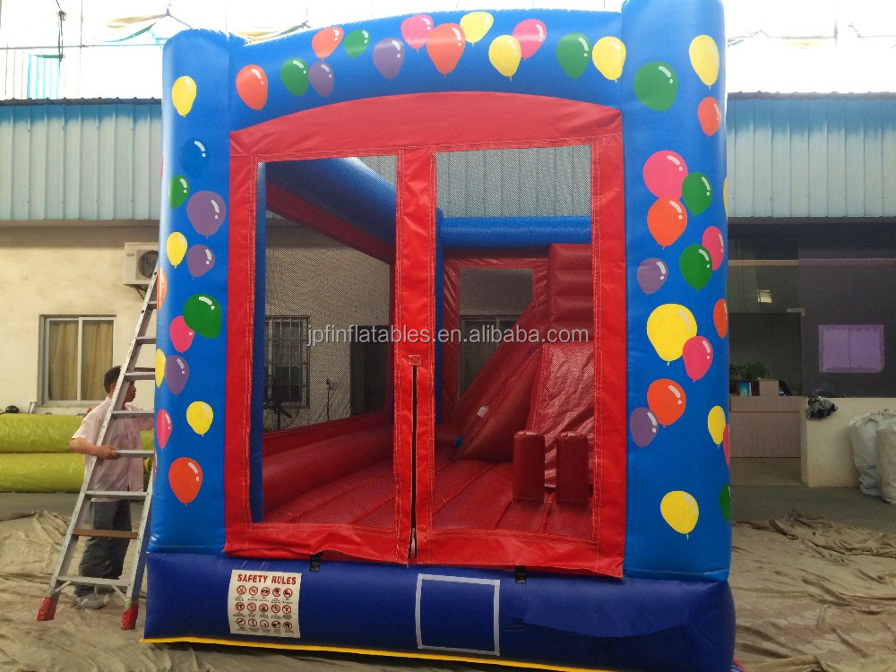 kids inflatable jumping balloon, advertising balloon bouncer with slide, inflatable jumping balloon castle for sale
