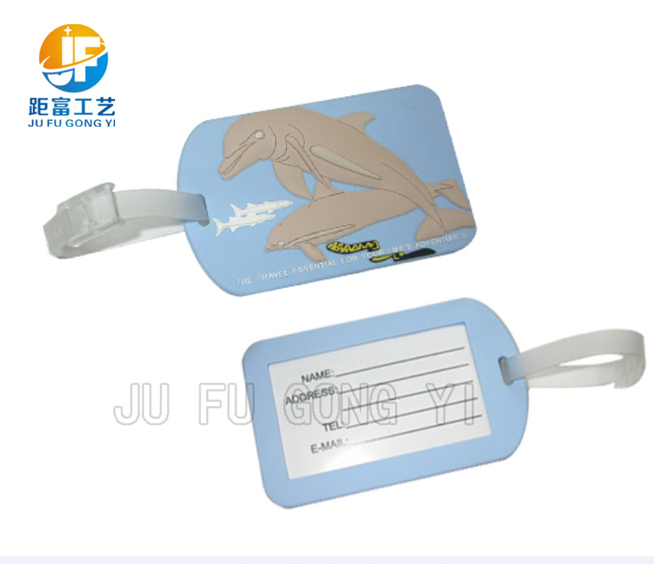 custom airplane soft plastic pvc luggage tag