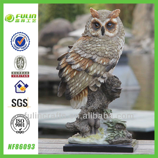 Middle Size Home Resin Owl Ornament