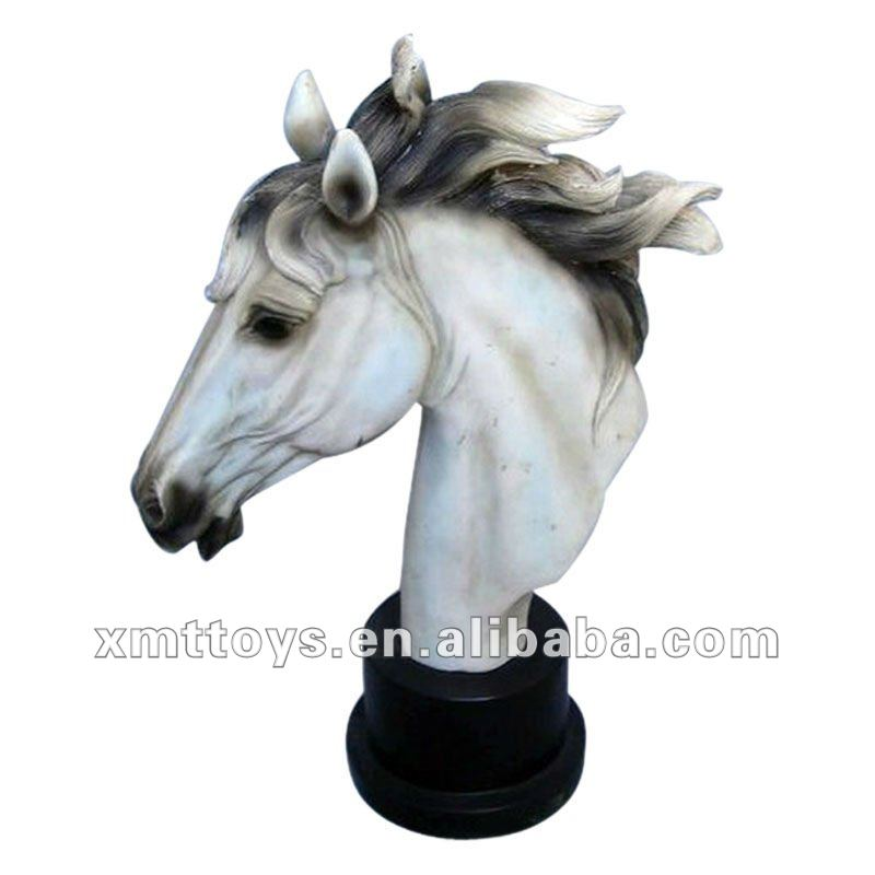 the best resin white horse head for decoration