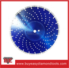 Popular W teeth laser welded 230mm diamond cutting blade for dry cutting
