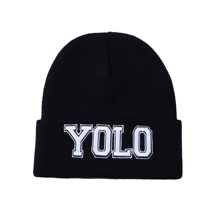 Hot Selling custom design mens winter knit hat from China