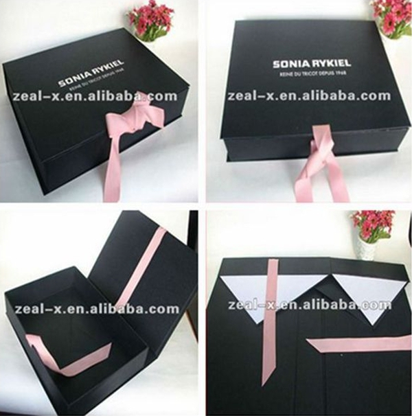 Fashion Usage Wedding Boxes with Ribbon Cardboard Frame Paper Covered with Box