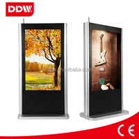 50 inch free stand touch screen digital signage with wifi 3G RJ45 HDMI VGA input output