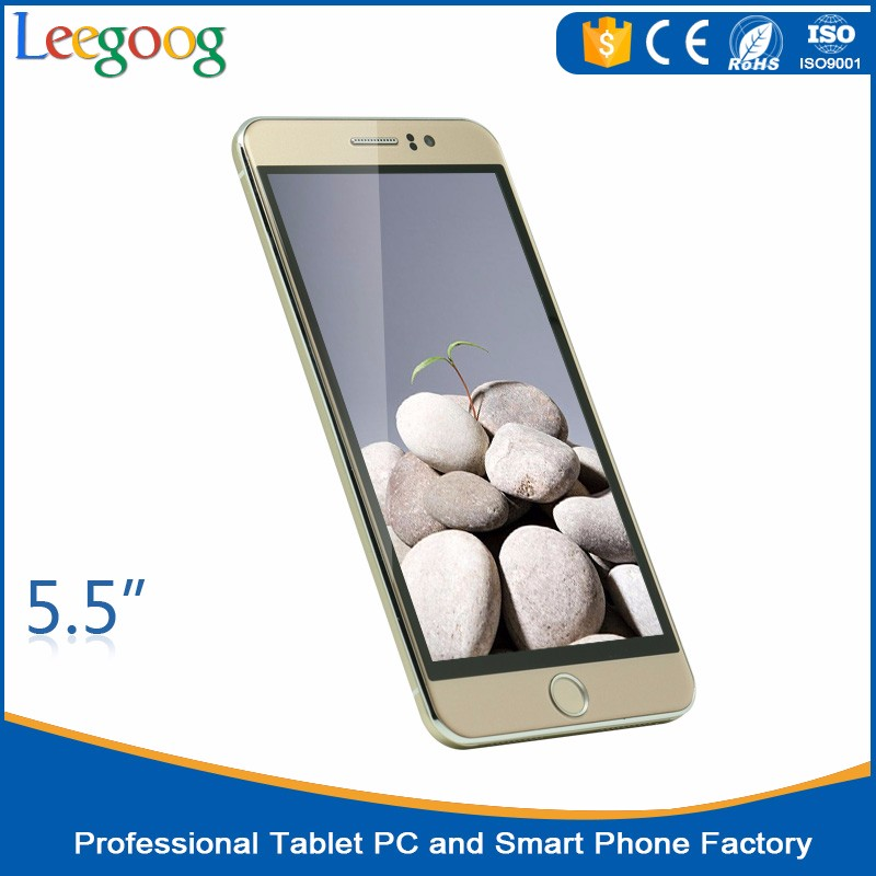 Cheapest China Smartphone 5.5 inch MTK6580 quad core HD mobile phones