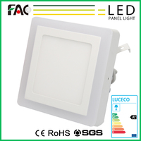 Chinese wholesale companies 25w square panel led light,ceiling panel led light with double color