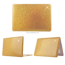 Glitter Bling Smooth PU Leather Coated PC Ultra-Slim Light Weight Hard Case Protector For MacBook Air 13.3