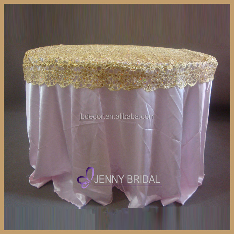 Fancy good design chemical lace sequin table overlay