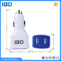 IBD smart output (5v/2.4a 9v/2a 12v/2a)*2USB dual car charger adapter quick charge 2.0 for lg g3
