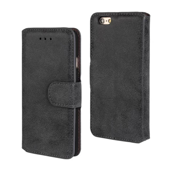 Retro Flip PU Leather Wallet Matte Case For Apple iPhone 5 5s