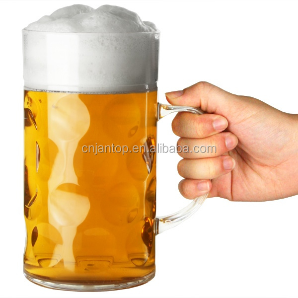 1PINT/20OZ Dimpled German plastic beer steins for octoberfest