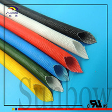 Electric motor winding materials Silicone coated Fiberglass braided insulation sleeve 1.2KV