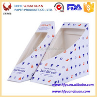 food grade paper Special design packaging sandwiches boxes