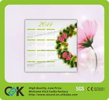 New design,top quality printable calendar 2014 from China supplier