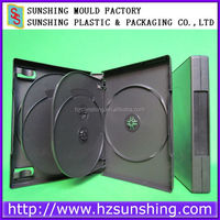 Free Sample Hard Plastic Multi Black DVD Sextuple Case with tray