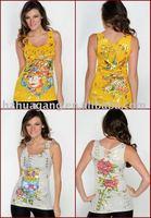 Fashion Women Sleeveless Shirts,ED hardy t shirt