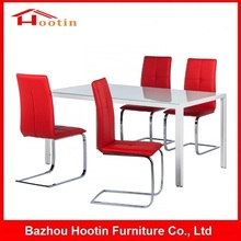 Modern 4 Seater Dining Tables Glass Dining Table