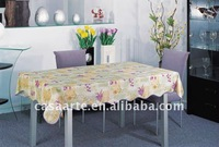 PVC Table cloth with Wave Edge