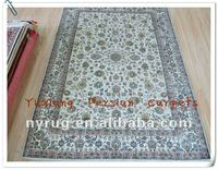 Oriental Chinese Silk Carpets Online with Persian Design Made by hands