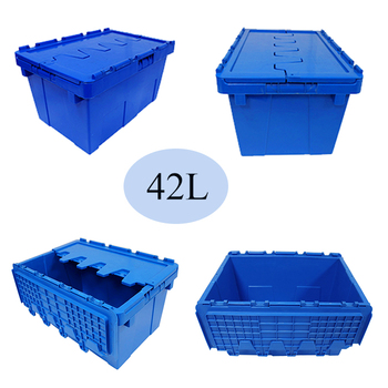 attached lid box container for moving company