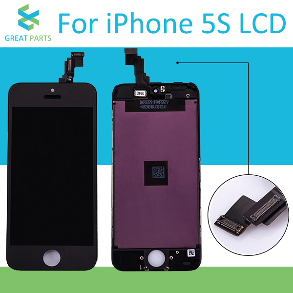 Grade AAA Quality LCD Display For Apple iPhone 5S Mobile Phone Touch Screen Digitizer Assembly in Black Wholesale