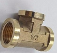 "1/2"" female thread sanding surface equal brass tee pipe fitting"