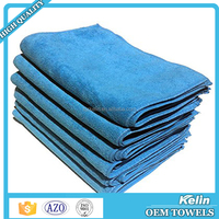 2016 China Supplier 70% polyester 30% polyamide blue bulk microfiber towel
