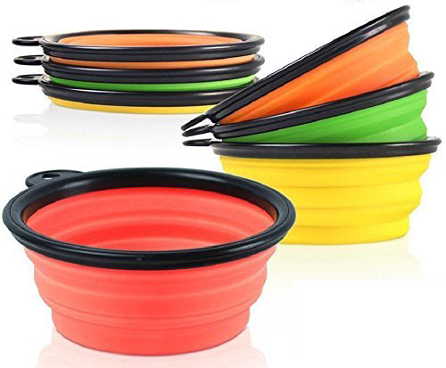 new collapsible silicone mixing pet travel dog bowl