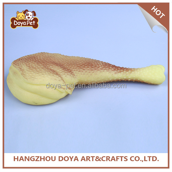 Wholesale Chicken Leg Shaped Rubber Dog Chew Clean Pet Toy