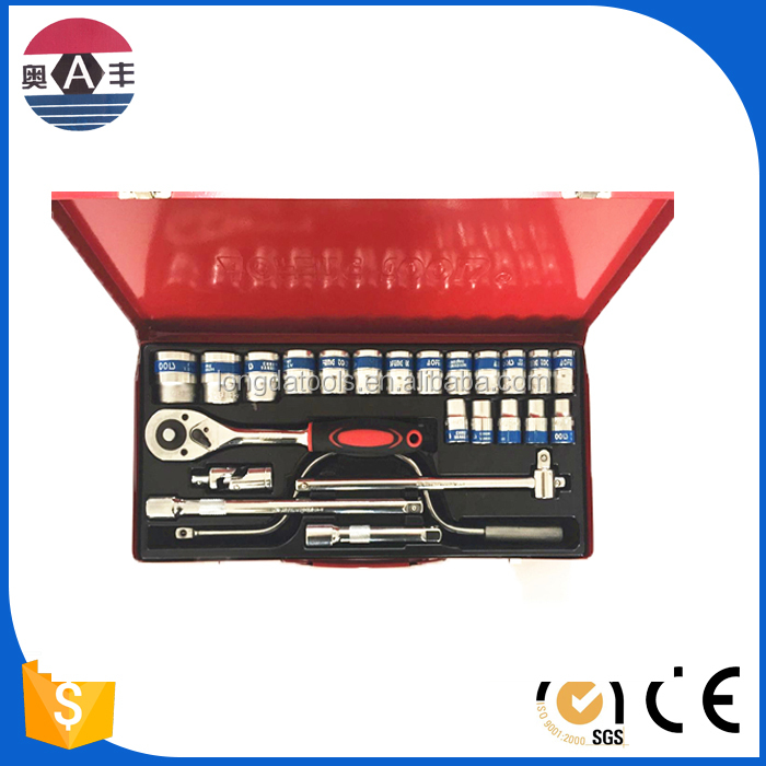 24pcs taiwan dr. 72 teeth quick release ratchet handle spline cr-v socket wrench and bit set