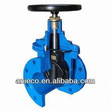 Ductile iron soft sealing non-rising stem gate valve