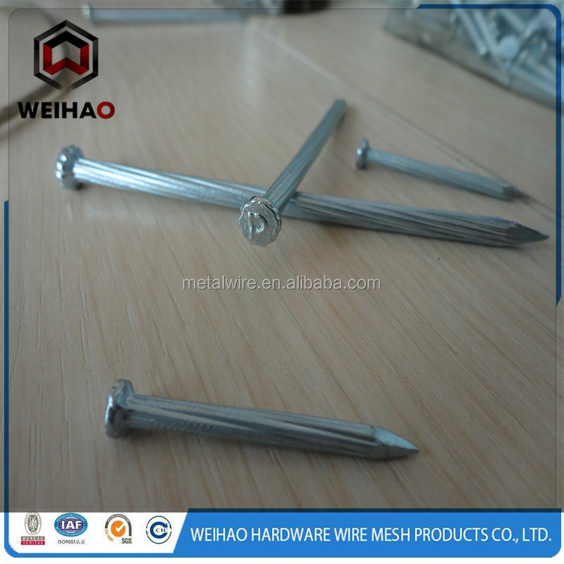 Made in china high quality galvanized hardened concrete steel nail