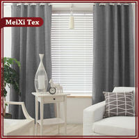 fancy curtain fabric yarn,cold proof door blackout valencia curtain fabrics in hangzhou
