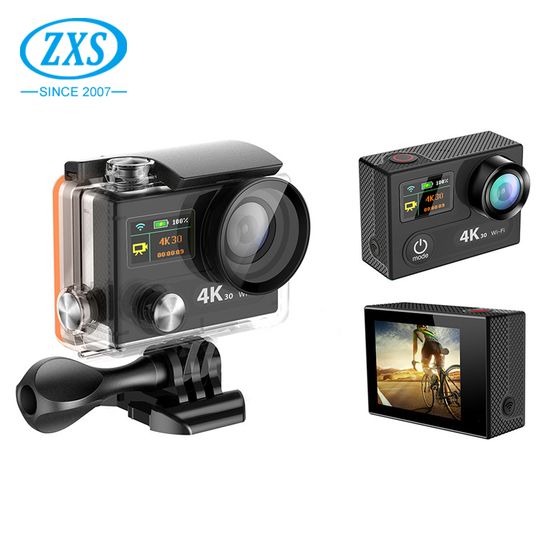 ZXS-H8 Outdoor Dual screen Sport WIFI Real Ultra HD 4K Action <strong>Camera</strong>