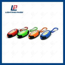 custom logo mini led carabiner flashlight led torch with carabiner for promotion