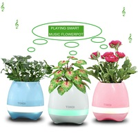 Music Flowerpot Smart Touch Plant Piano Music Playing Light Round Garden Flower Pot