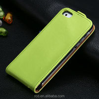 Real Cow Leather Case Open Upside Down Flip Case For iPhone 5 5s I5 Leather Case Cover