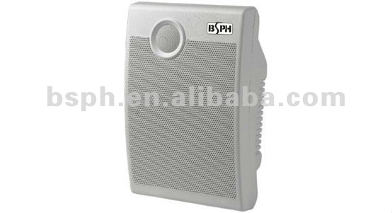 Square Wall Mount Audio Speaker, PA Sound Amplifier Speaker, 10W Pro Loudspeaker (BS-600)