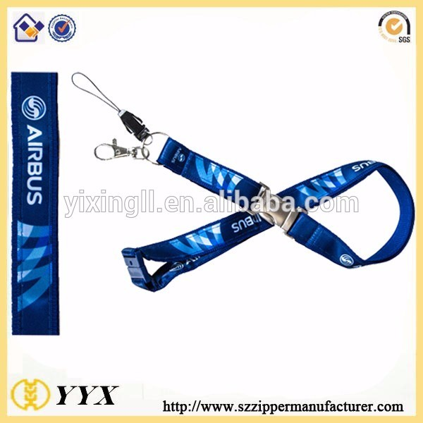 [Double Lanyards] Sublimation Lanyard Metal Inset & Safety Breakaway Buckle