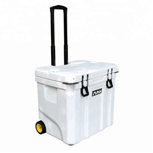 Rolling Chest Cooler Ice Box with Wheels Trolley hard cooler 37Q 35L