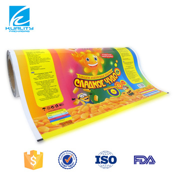 Custom Printed Laminated Colored Plastic Wrap For Food