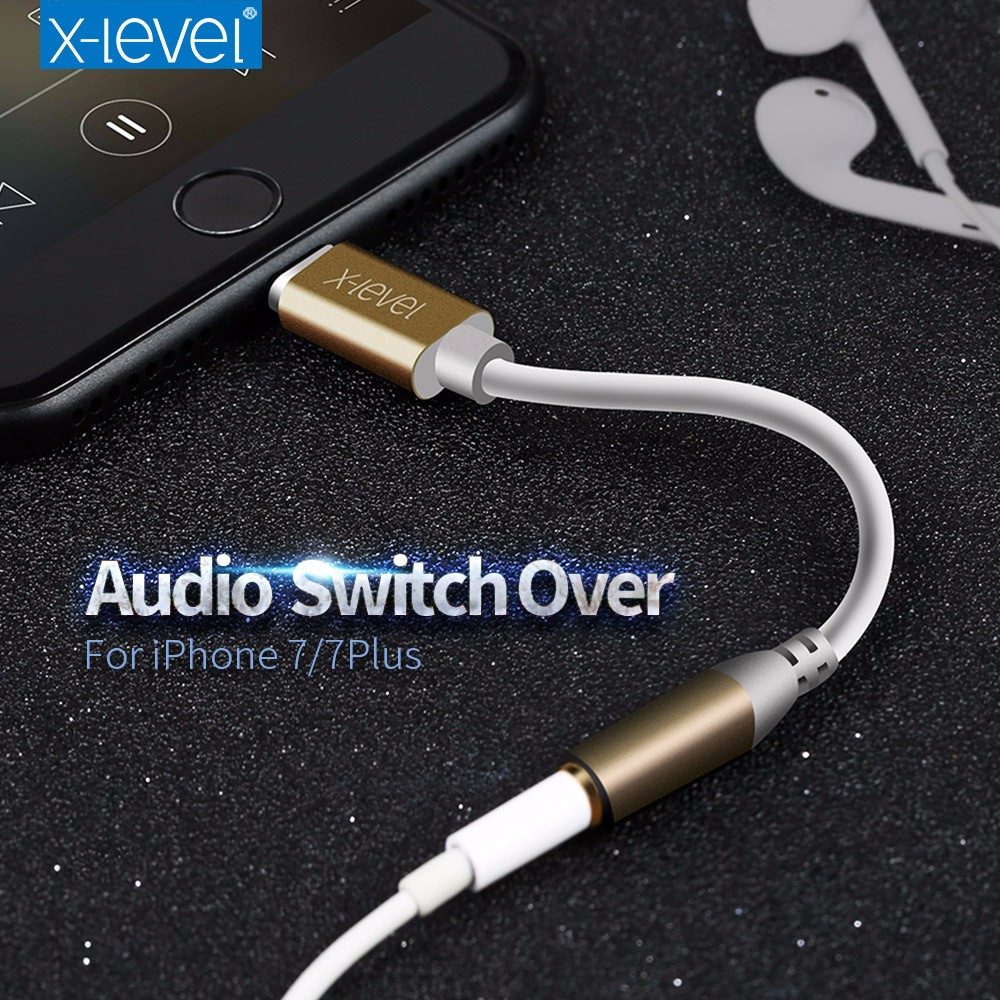 [X-LEVEL] 2017 Newest 10CM Earphone/Headphone 3.5mm Jack Adapter Cable for iPhone 7